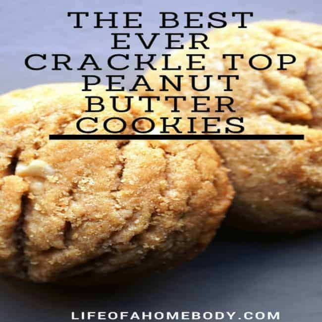 The Best Ever Crackle Top Peanut Butter Cookies