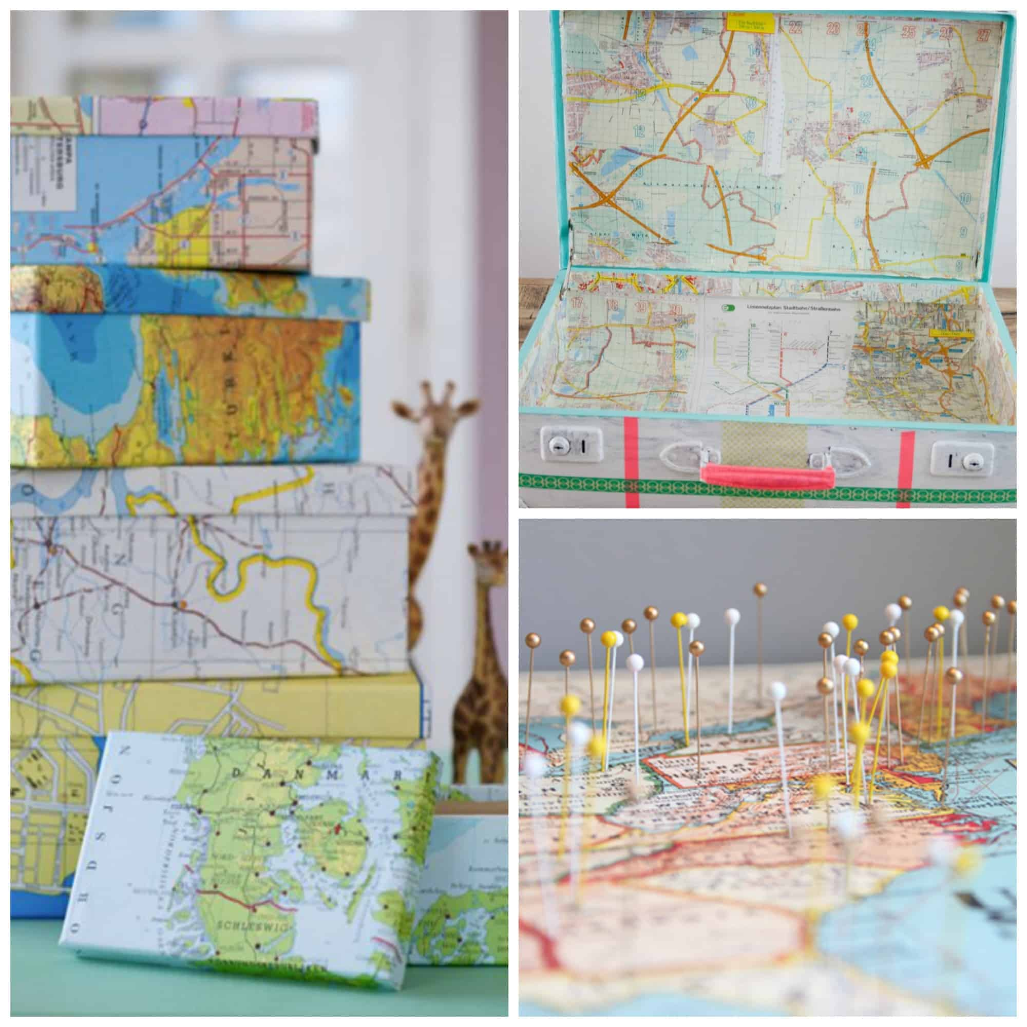 10 Brilliant ways to decorate with maps, everything from suitcases to frames