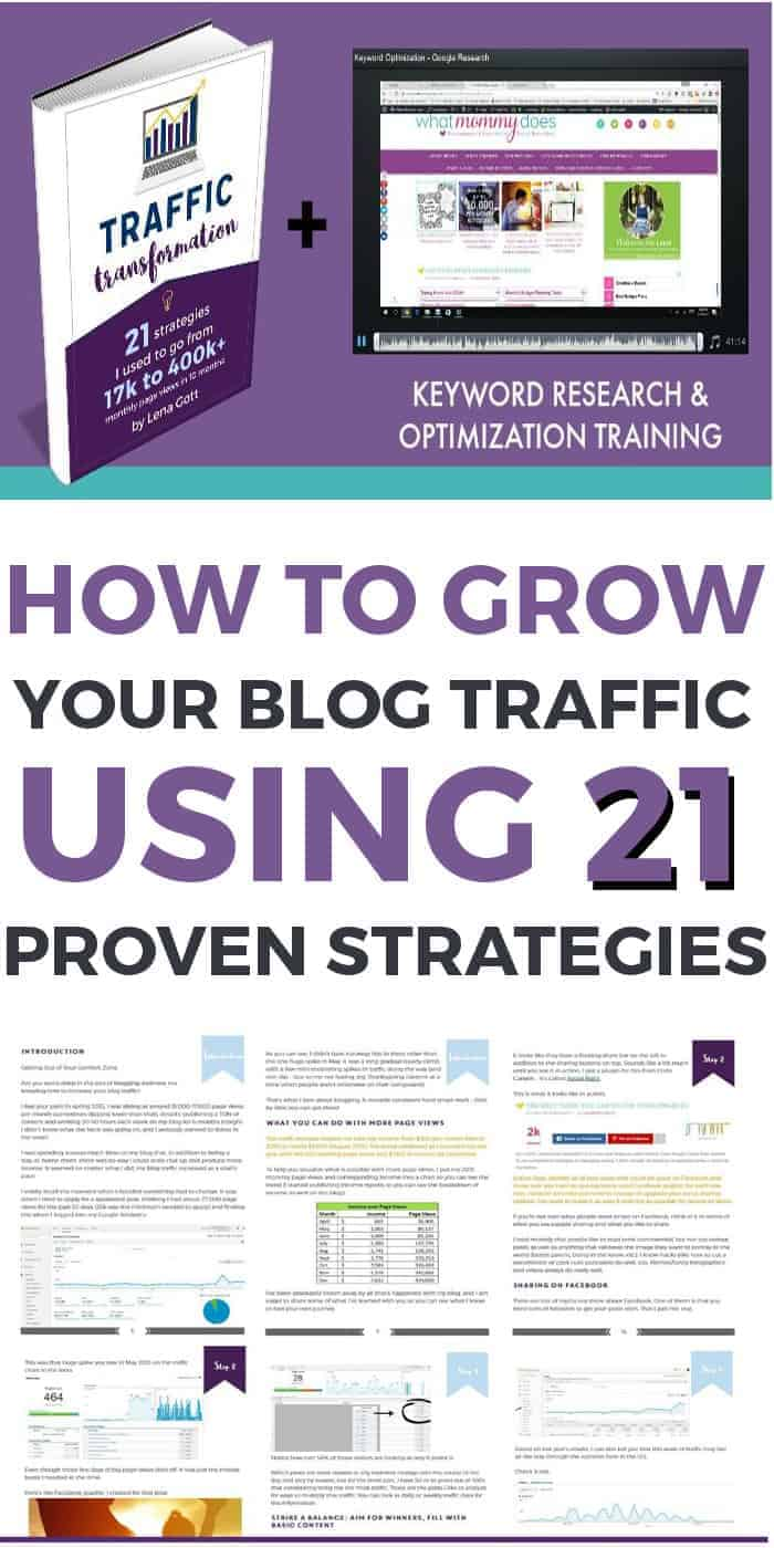 Grow your blog traffic using 21 proven strategies