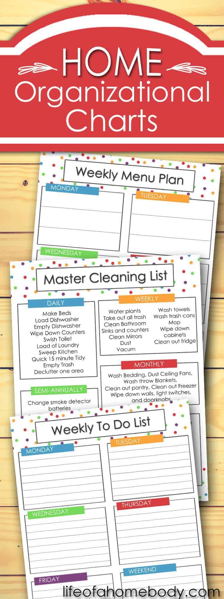 Free Weekly Planner List