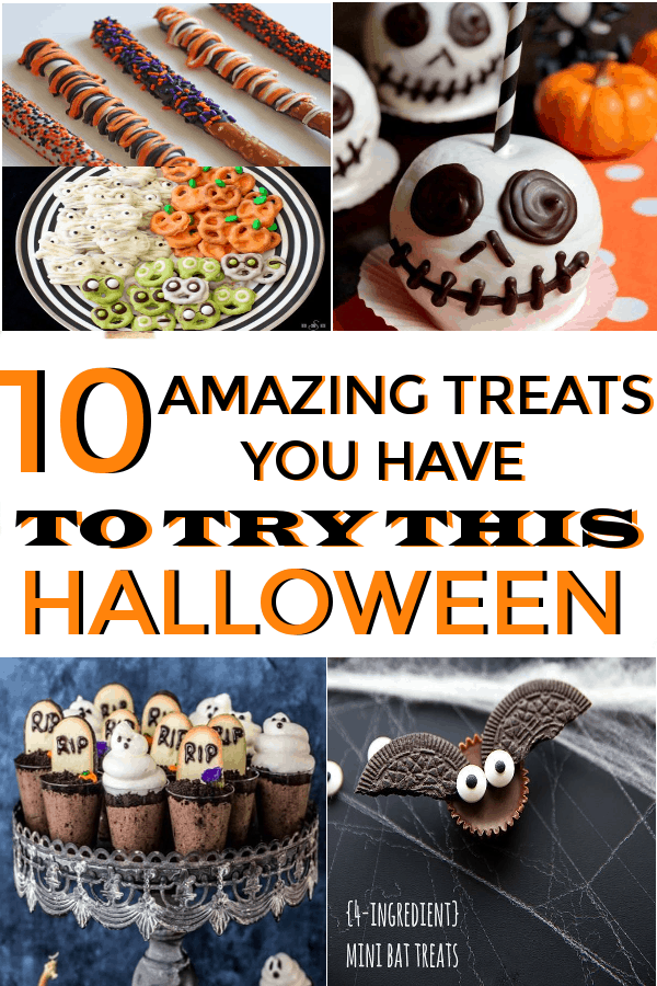 Halloween treats that are perfect for kids, adults, treat bags and more! #halloweentreats #halloweensnacks #halloweenfood #halloween