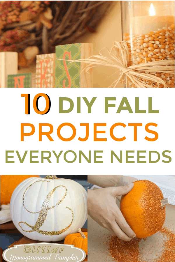 10 DIY Fall Decor Ideas for the home! #DIY #DIYFalldecor #falldecor #falldecorations #decorateforfall #pumpkins
