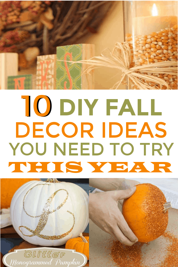 These 10 Easy Fall Decor Hacks are THE BEST! I'm so glad I found these AWESOME home decor ideas and tips! Now I have great ways to decorate my home for fall! Definitely pinning! #falldecor #DIYfalldecor #falldecorations #fallhomedecor