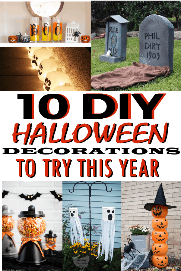 DIY Halloween Decorations that are spooky and fun! #halloweendecor #halloweendecorations #DIYHalloween #DIYHalloweendecor