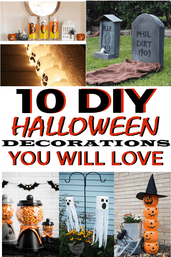 10 DIY Halloween Decorations you are going to love! #DIYHalloween #halloweendecor #halloween