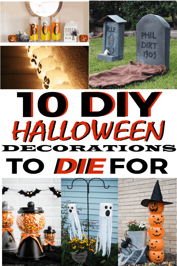 Halloween DIY Decor ideas that will be great for decorating your home this year! #halloween #halloweendecor #DIYHalloweendecor #DIYHalloween