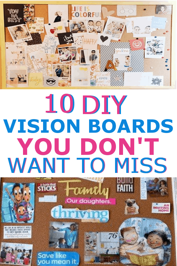 Get some inspiration with these DIY Vision Board ideas! #visionboards #DIYVisionboards #visionboardideas #howtomakeavisionboard