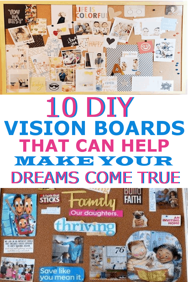 Ideas for how to create a DIY vision board! These include examples and inspiration! #visionboard #visionboards #howtomakeavisionboard #visionboardideas