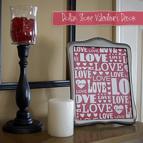 10 Dollar Store Decor Hacks are THE BEST! I'm so glad I found these AWESOME Valentines Day home decor ideas and tips! Now I have great ways to decorate my home for Valentines Day on a budget! Definitely pinning!
