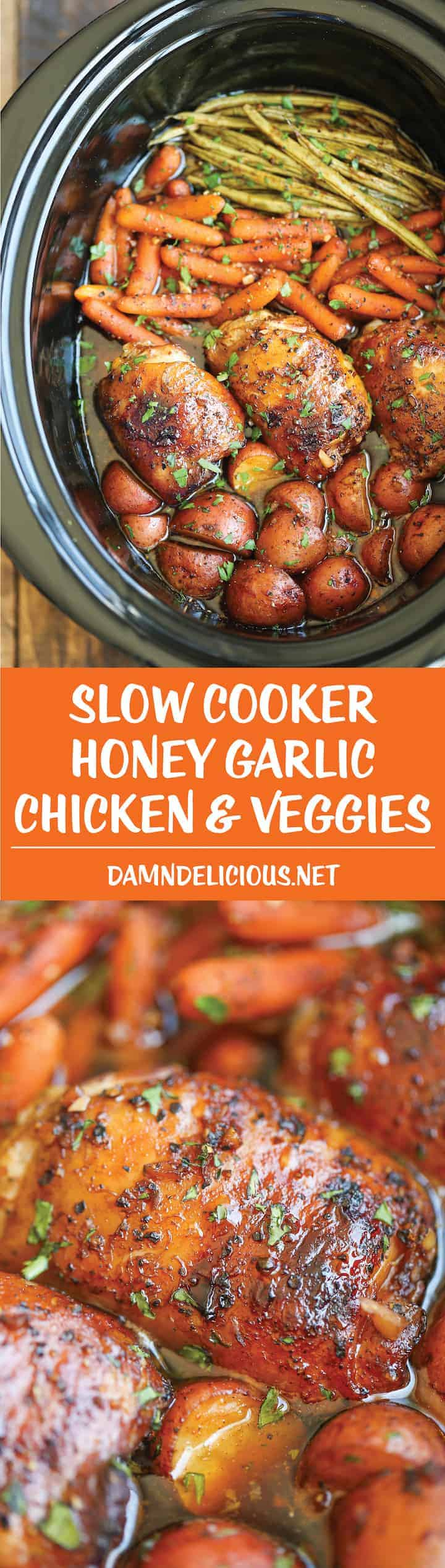 This is a great list of slow cooker chicken recipes that I am dying to try! Worth pinning for later! #chicken #slowcooker #slowcookerchickenrecipes #slowcookerrecipes #chickenrecipes