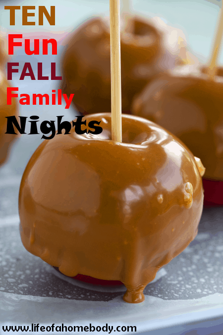 Fall is the perfect time for a family night! !0 Fun fall family nights every family should do together. #family #fallbucketlist #fallfun #familynights