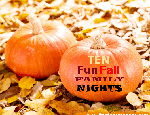 10 Family Nights to Have This Fall