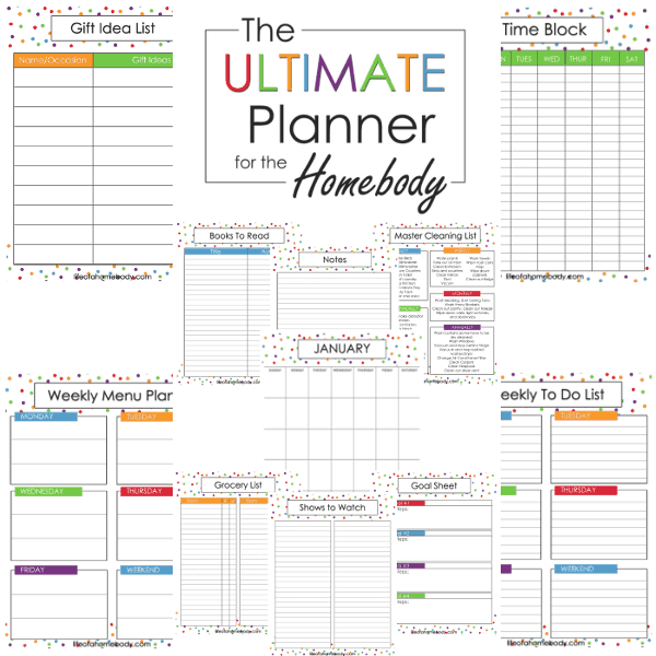 The Ultimate Planner for all things home! Menu planning, grocery list, cleaning list and more! #homeplanner #planner, #organizedlife