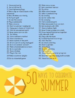 Fun things to do and a great Family Summer Bucket List for kids, teens and families. #summerbucketlist #bucketlist #familysummerbucketlist #freeprintable