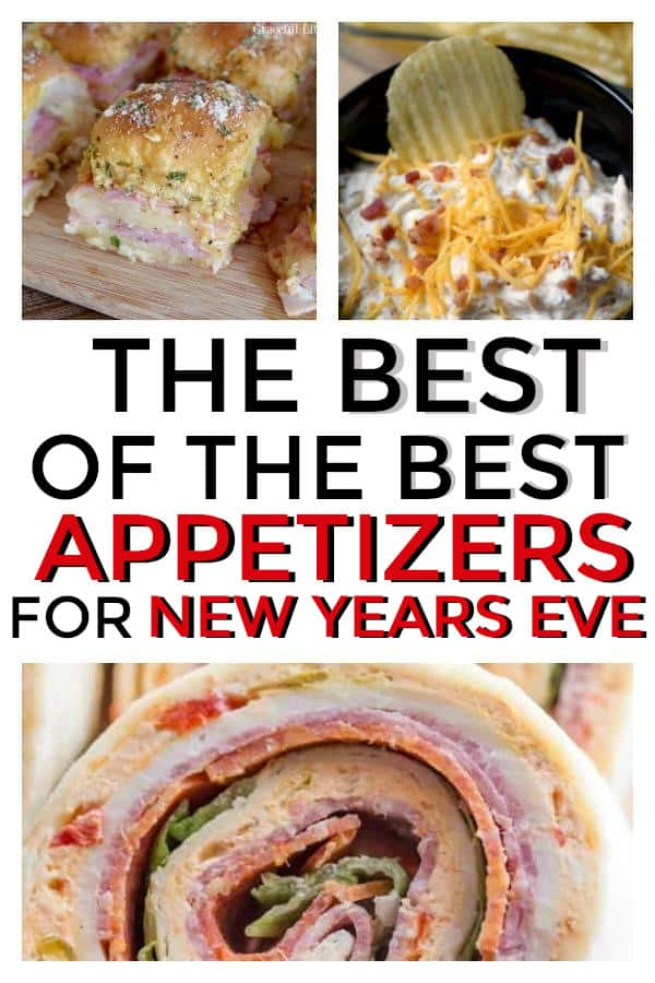 Easy Appetizers perfect for your New Years Eve party. #newyearseve #newyearseveparty #newyearseveappitzers #parties #party #appetizers #partyappetizers