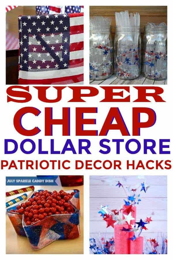 Dollar Store Patriotic Decor Hacks! #patrioticdecor #dollarstoredecor #4thofJuly #memorialday