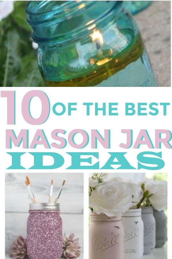The best ideas for Mason Jars! #DIY #masonjars #jars #Homedecor #homedecoronabudget