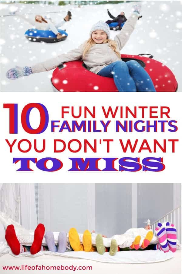 Winter family nights your kids will love! #winteractivities #familynight #makingmemorieswiththekids