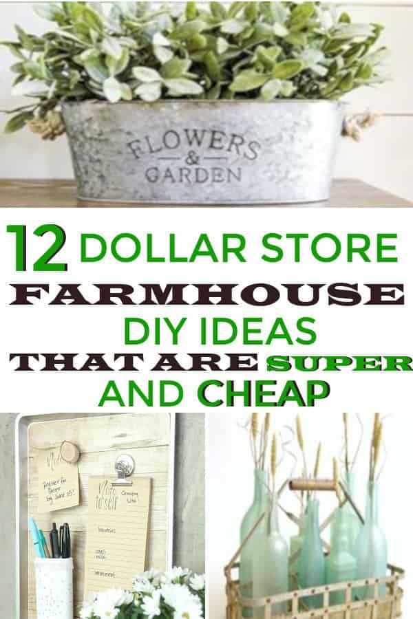 Farmhouse decor on a budget, modern ideas that can be bought from dollar store! #farmhousedecor #farmhousedecoronabudget #dollarstoredecor #farmhousedollarstore