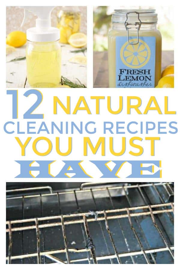 DiY Homemade Natural Cleaning Recipes, using vinegar, lemon, and other natural ingredients.