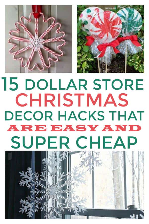 Dollar Store Christmas Decor ideas you will love if you are decorating on a budget. #homedecoronabudget #dollarstoredecorating #christmasdecor #dollarstorechristmasdecor #christmasdecoronabudget