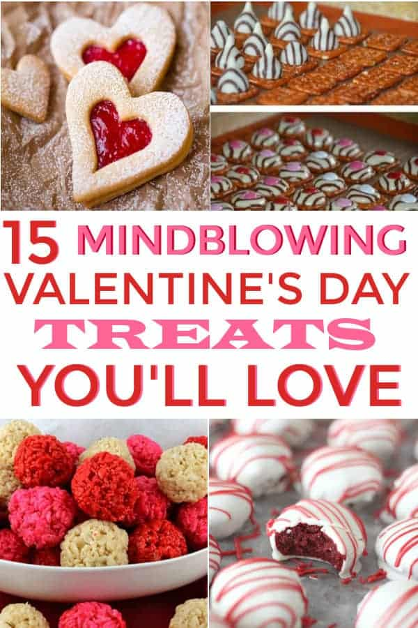 This is a wonderful list of Valentine's Day Treats You'll Love! It includes Valentine's Day Treats and Desserts! Will be pinning! #Valentinesday #Valentinesdaytreats #Valentinesdaydesserts