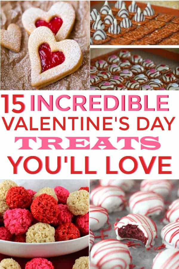Great list of Valentines Day Treats for school, friends, or for kids. These look delicious. #valentinesday #valentinesdaytreats