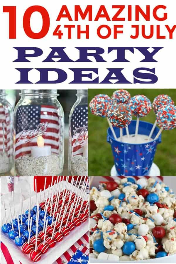 4th of July Party Ideas. Includes patriotic decor and food! #4thofJuly #MemorialDay #patriotic #4thofjulypartyideas
