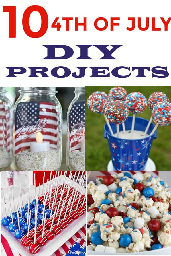 4th of July DIY Decoration and food ideas for a fun party! #4thofjulyparty #4thofjulypartyideas #patrioticdecor