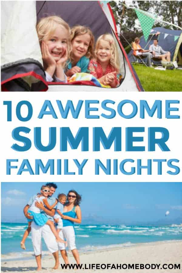 A list of summer family nights to enjoy together this summer! #summer #familynights #summerbucketlist #makingmemorieswithyourkids #intentionalparenting