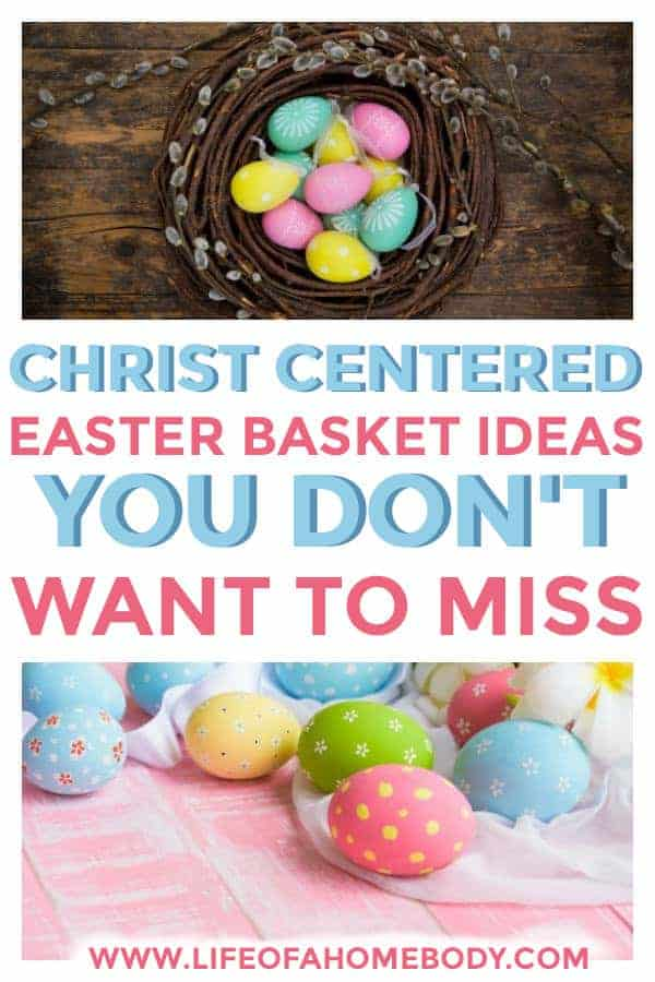 Easter Basket fillers and Easter basket stuffer for the Christian family. #christcenteredeasterbasket #easterbasket #easter #jesusineaster