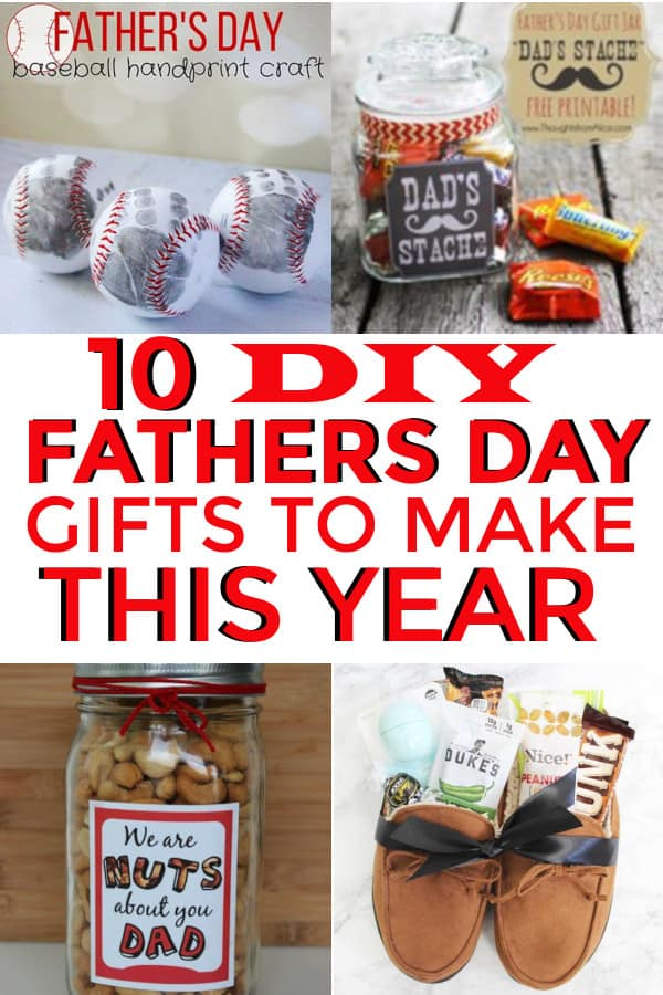 10 DIY Fathers Day Gifts!  Perfect gifts from the kids.  #fathersdaygifts #fathersday #diyfathersdaygifts