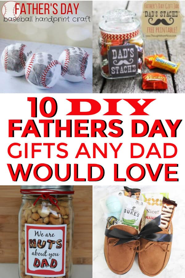 Great fathers day DIY gifts from the kids. These are easy to make and fun gifts any dad would love.