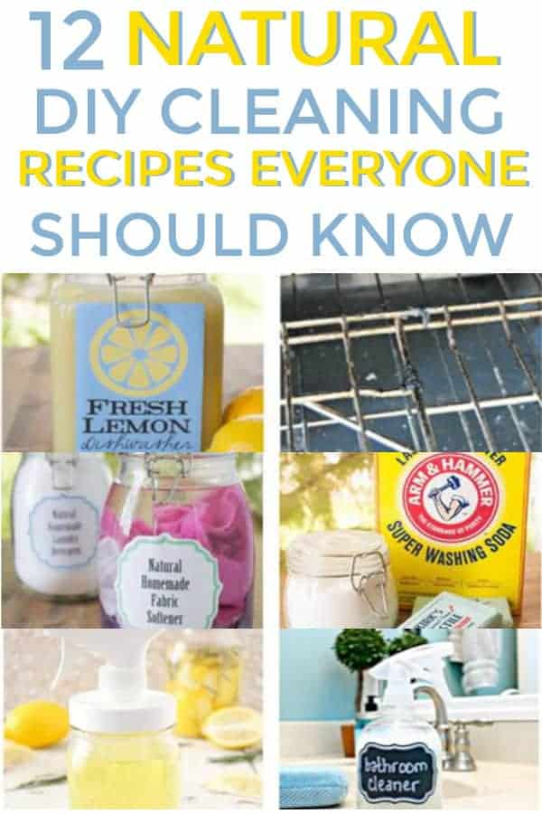 12 Natural DIY Cleaning Recipes Everyone Should Know! #naturalcleaners #naturalcleaningrecipes #cleaninghacks #springcleaning #cleaning #diycleaners