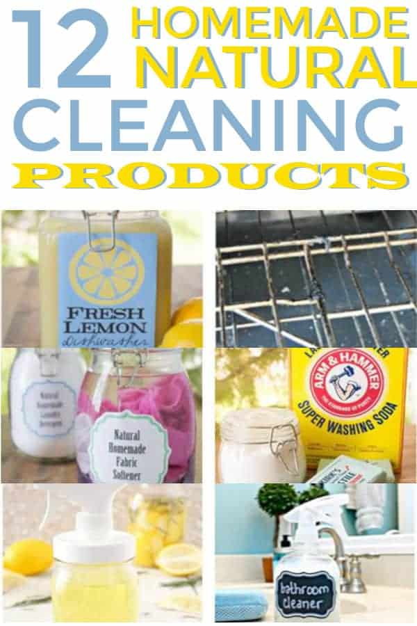 DIY Natural Cleaning Products you can make yourself. #naturalcleaners #greencleaning #cleaningtips #cleaninghacks