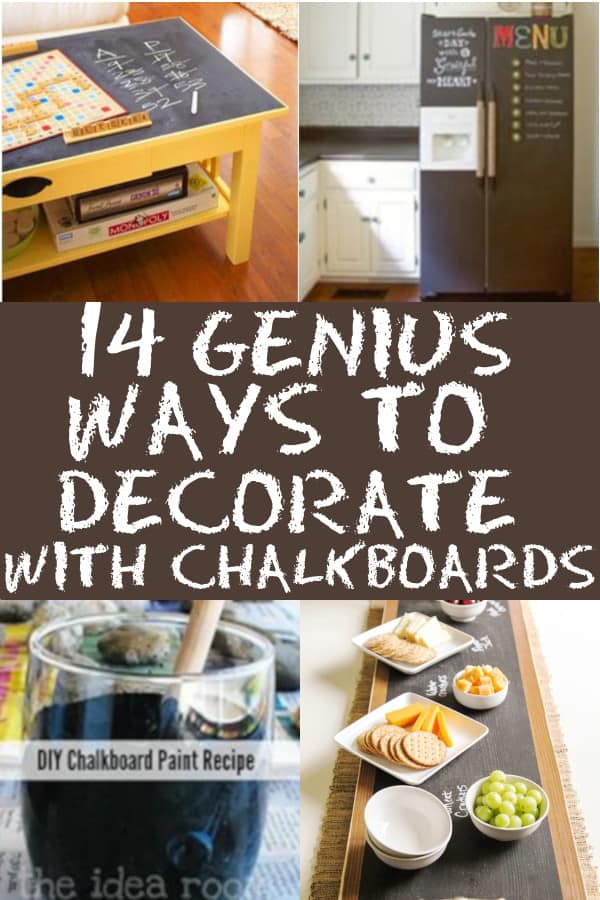 Different ways to decorate with chalkboards.  #chalkboards #chalkboarddecorating #chalk #homedecor