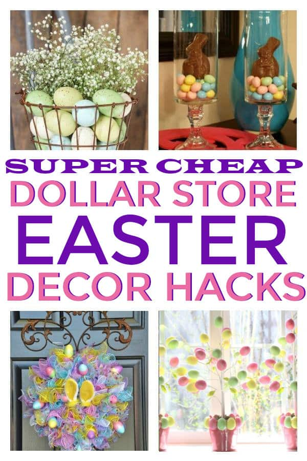 Easter Home Decor from the dollar store. #dollarstoredecorating #dollarstoreeasterdecor #dollarstoreeaster