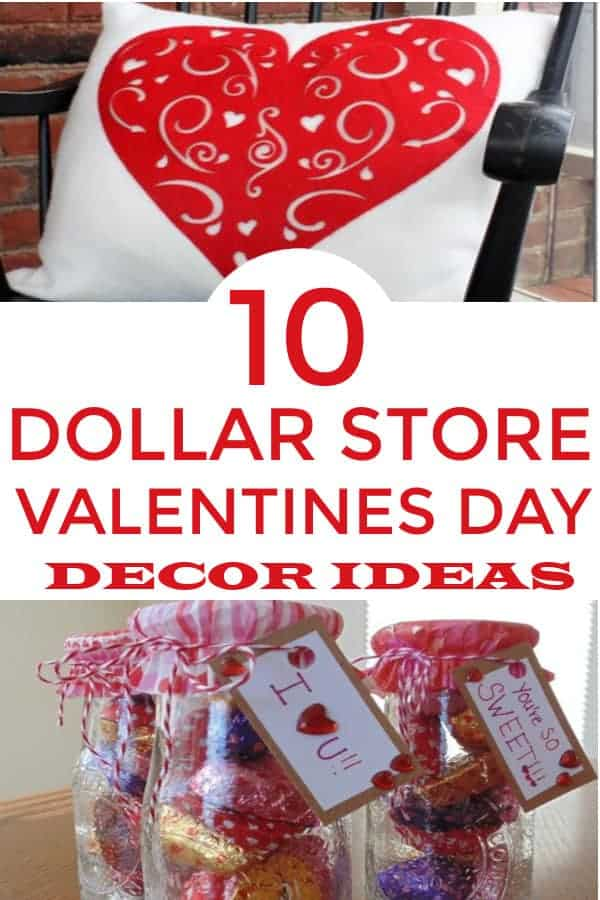 Easy DIY Dollar Tree Valentines Day Decor.  There are some really cute ideas! #valentinesday #valentinesdaydecor #dollartreedecor