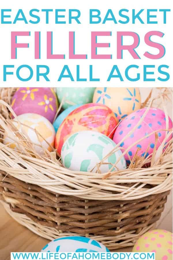 DIY Easter Basket ideas for all ages, including adults. #easterbasket #easterbasketfillers #easterbasketforadults #easter #teeneasterbasket