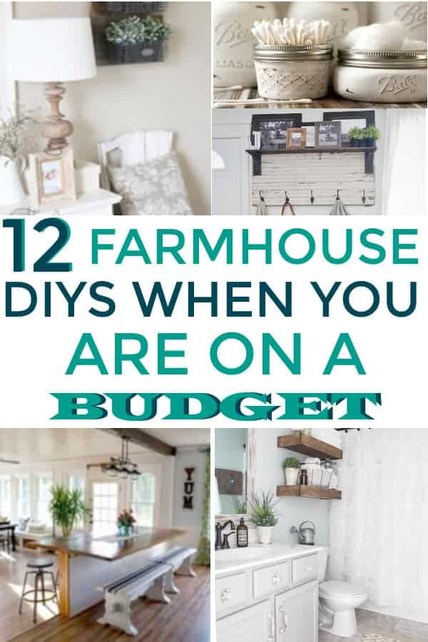 Farmhouse DIYs When you are on a budget. #farmhousedecor #farmhousedecoronabudget #homedecoronabudget
