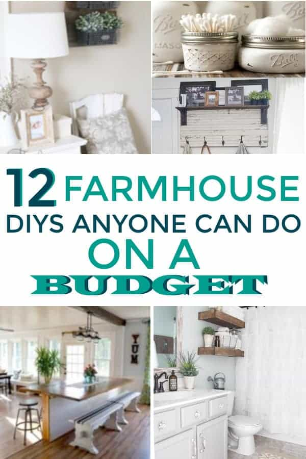 Farmhouse DIY simple ideas on a budget! #farmhousedecor #farmhousedecoronabudget #farmhouse