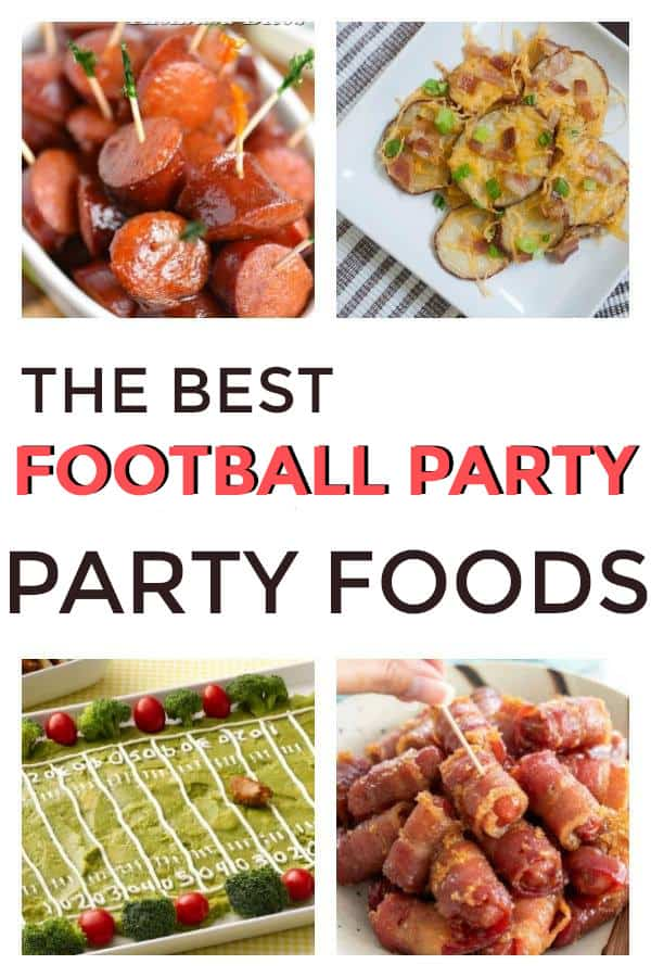 Appetizers for your football parties. Great for Super Bowl and any football game. #footballparty #appetizers #footballappetizers #thebiggame #superbowl #partyfood