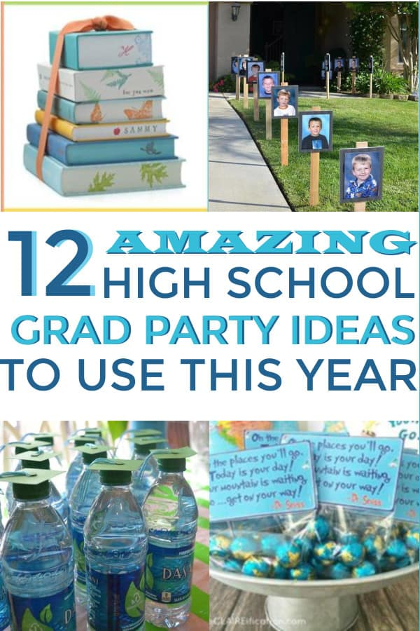 DIY Hight School graduation party ideas. Great ideas for indoors and outdoors for food and decorations. #highschoolgraduations #graduationpartyideas #partyideas #highschoolgraduationpartyideas