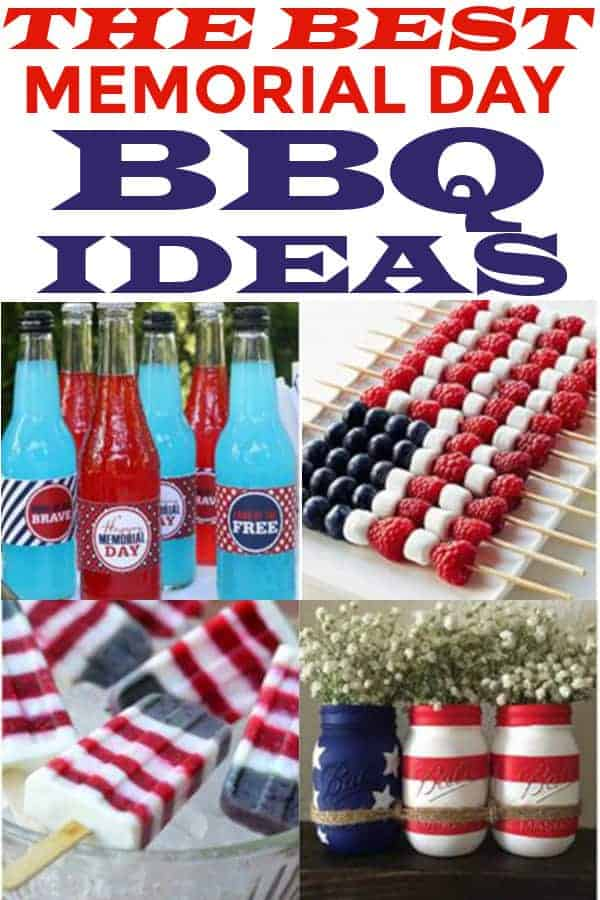 Memorial Day Party ideas including food and decor! #memorialdayparty #memorialdaypartyideas #patrioticholidays