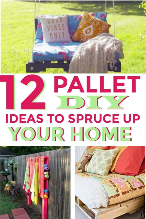 Easy DIY Pallet ideas that are great for home decor! #palletprojects #pallet #diyhomedecor