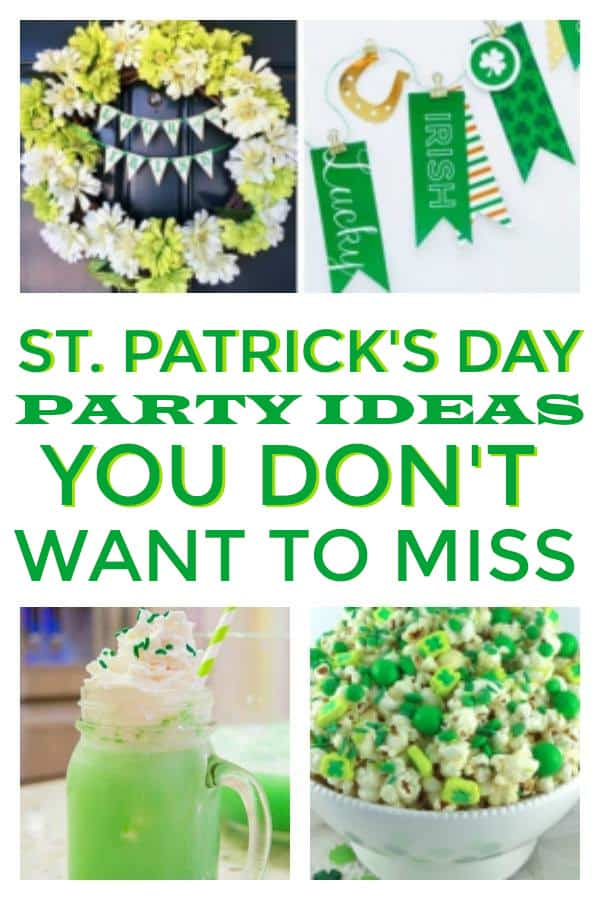 St Patricks Day Party Ideas, includes ideas for adults and kids. Games, recipes and decor #stpattysday #stpatricksday #stpatrickspartyideas