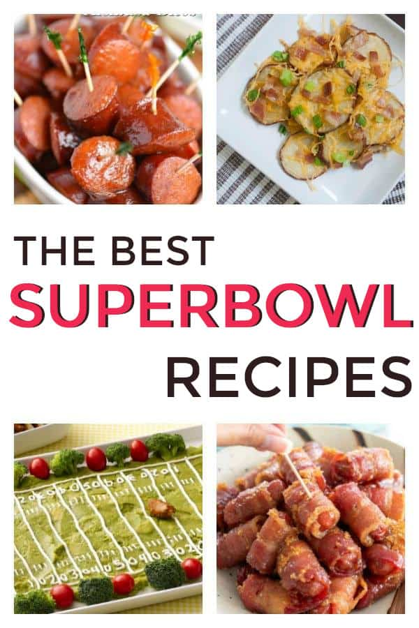 Great list of party appetizers perfect for football or the Super Bowl Finger Foods, and crock pot appetizers included. #partyappetizers #appetizers #superbowl #footballappetizers #superbowlparty
