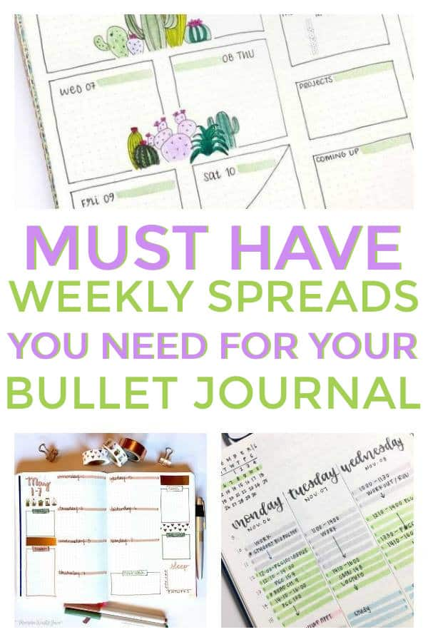 Bullet Journal Weekly Spreads - Weekly Layouts for Bullet Journals -  Weekly Bullet Journal Spreads You Must Try #bujo #bulletjournal #weeklyspreads #bujolove #bulletjournalspreads #weeklylayouts