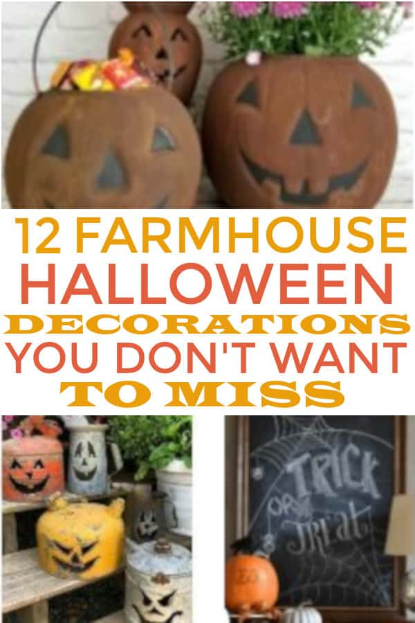 DIY Farmhouse Halloween Decorations to make your home cozy. #farmhouse #farmhousehalloween #halloweendecor #diy #diyfarmhousehalloweendecor #farmhousedecor
