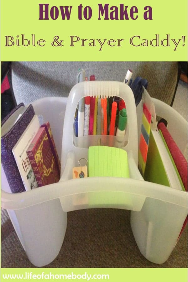 Bible and Prayer Caddy or Organizer. #bible #faith #prayer #caddy #bibleorganizer